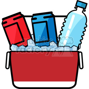Ice clipart ice box. Cold drinks in a