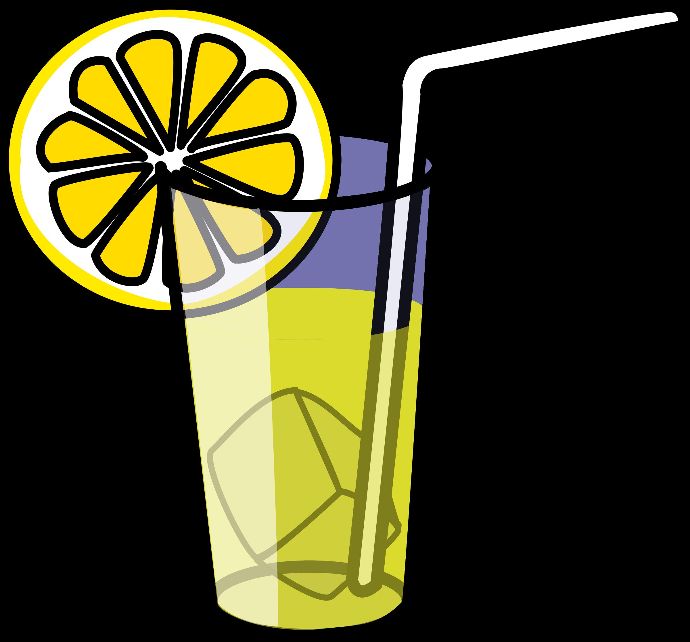 Drink clipart welcome drink. Lemonade glass by nicubunu