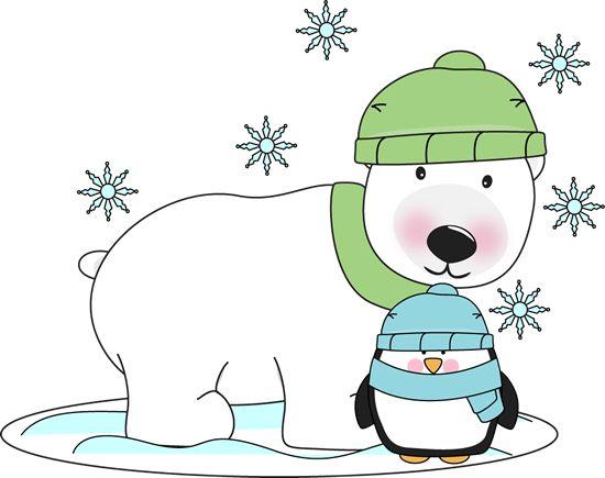 January clipart artic animal. Cold polar bear x