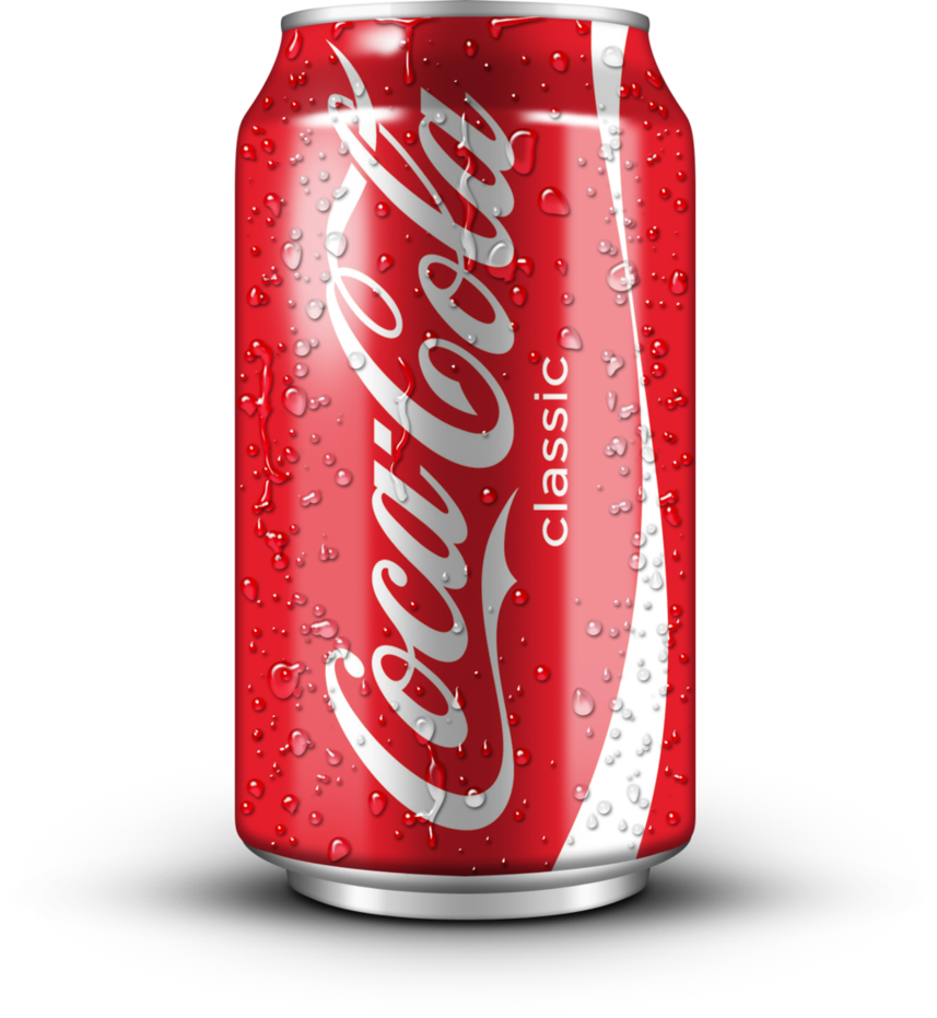 Can of coca cola. Cold clipart softdrink