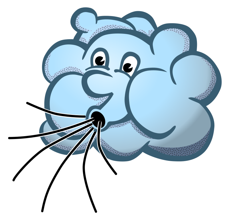 windy clipart icy wind