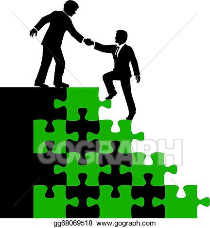 Vector illustration business people. Collaboration clipart associate