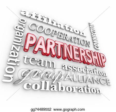 Collaboration clipart associate. Stock illustration partnership d