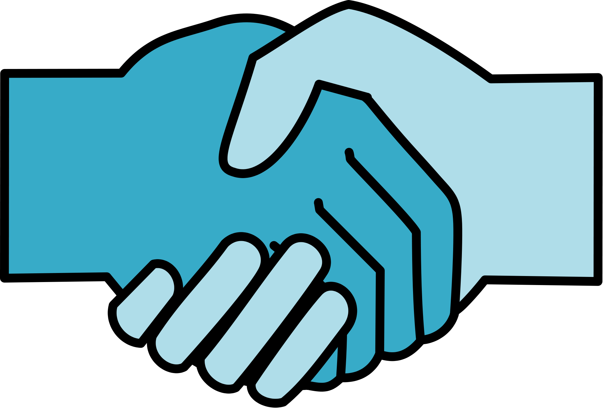 File collaboration logo v. Handshake clipart conflict
