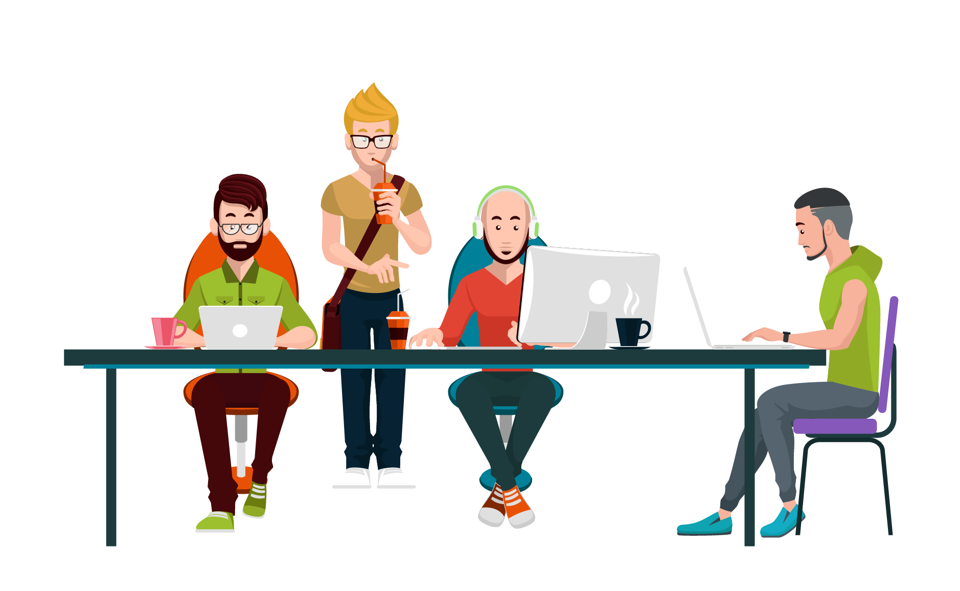 Collaboration clipart business organization. Organizational culture coworking workplace