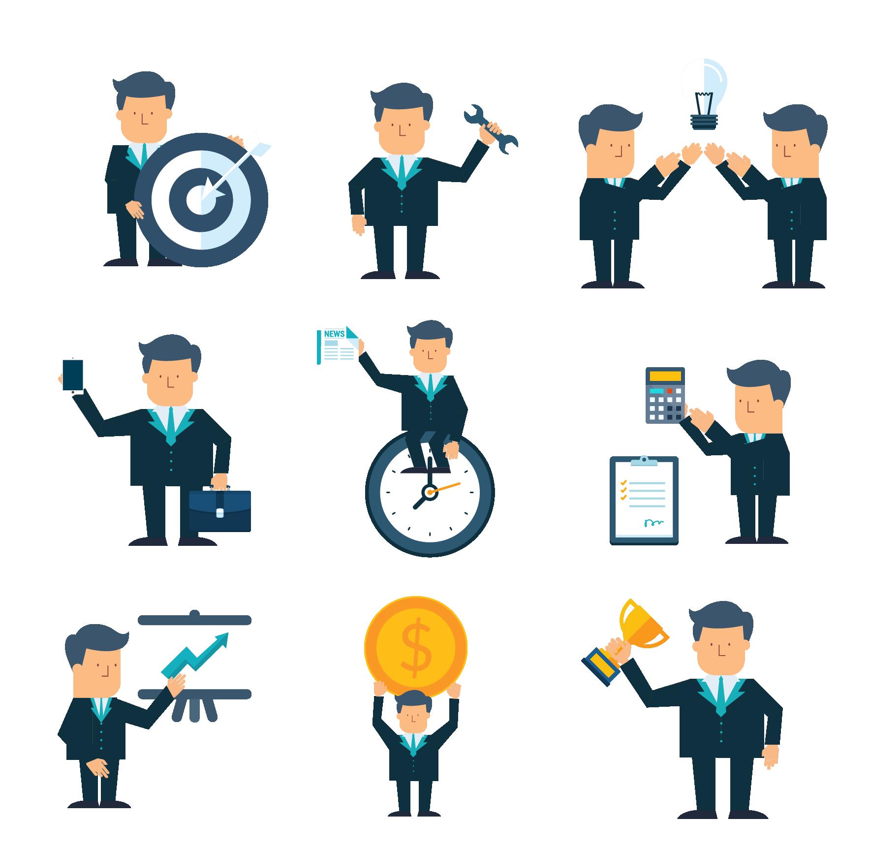 Businessperson icon man transprent. Collaboration clipart business organization