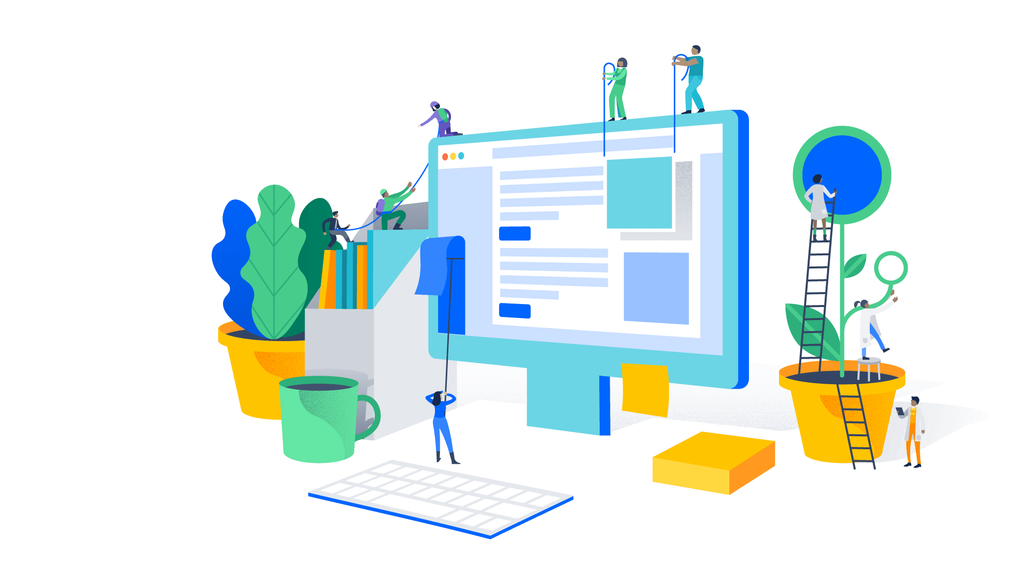 Atlassian software development and. Collaboration clipart business support