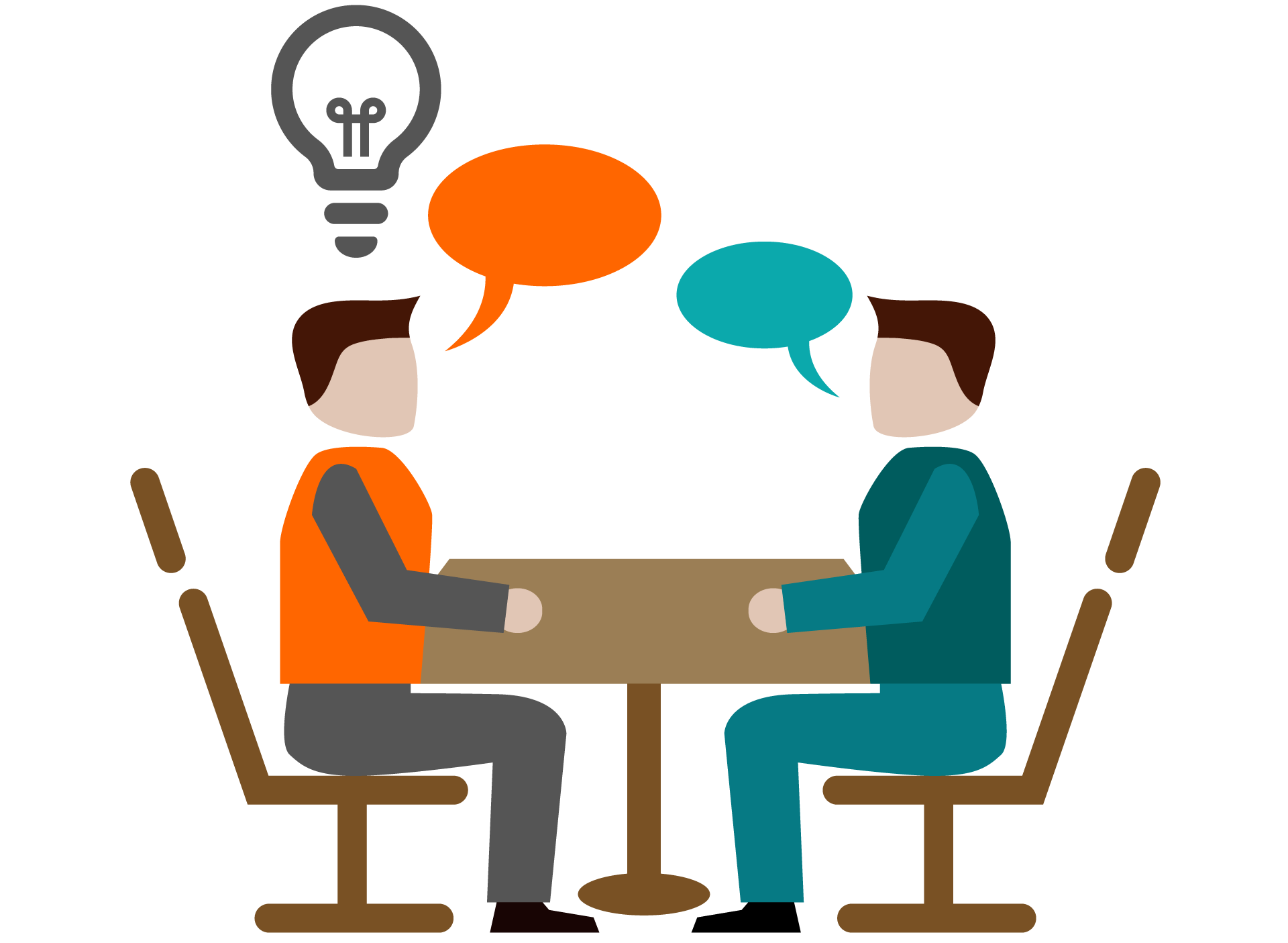 Business coaching computer icons. Conversation clipart support group