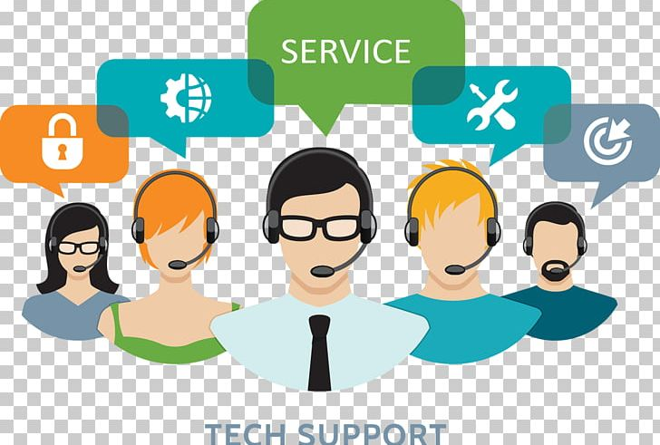 Technical customer service livechat. Collaboration clipart business support