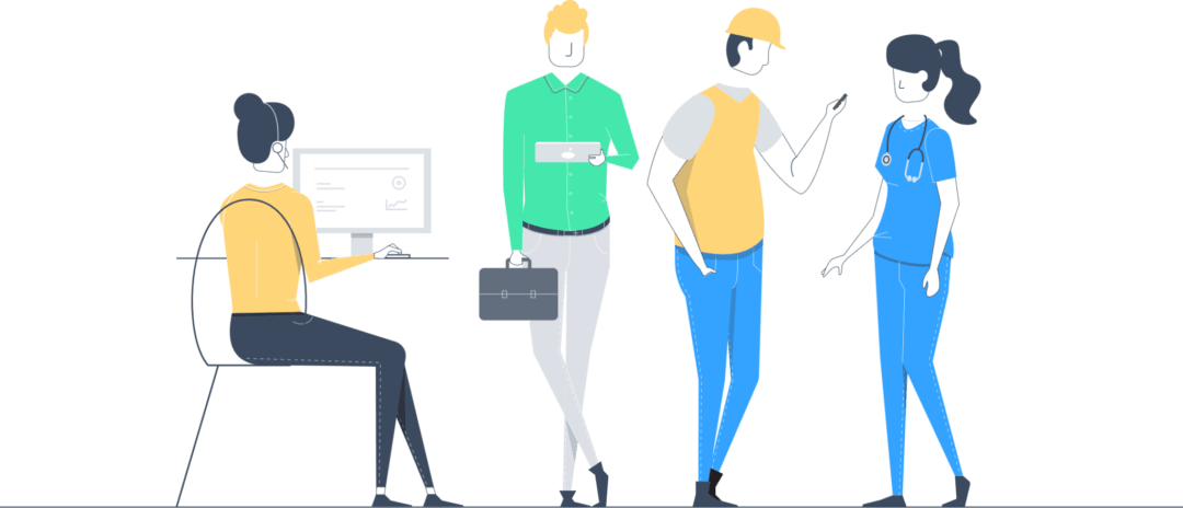 What is mobile workforce. Manager clipart business worker