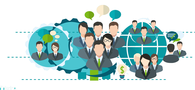 Company management service corporate. Collaboration clipart corporation business