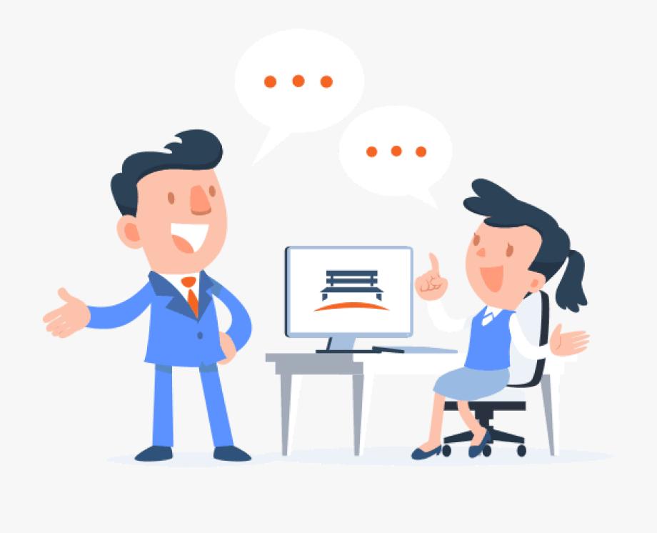 Kartun marketing . Collaboration clipart customer service