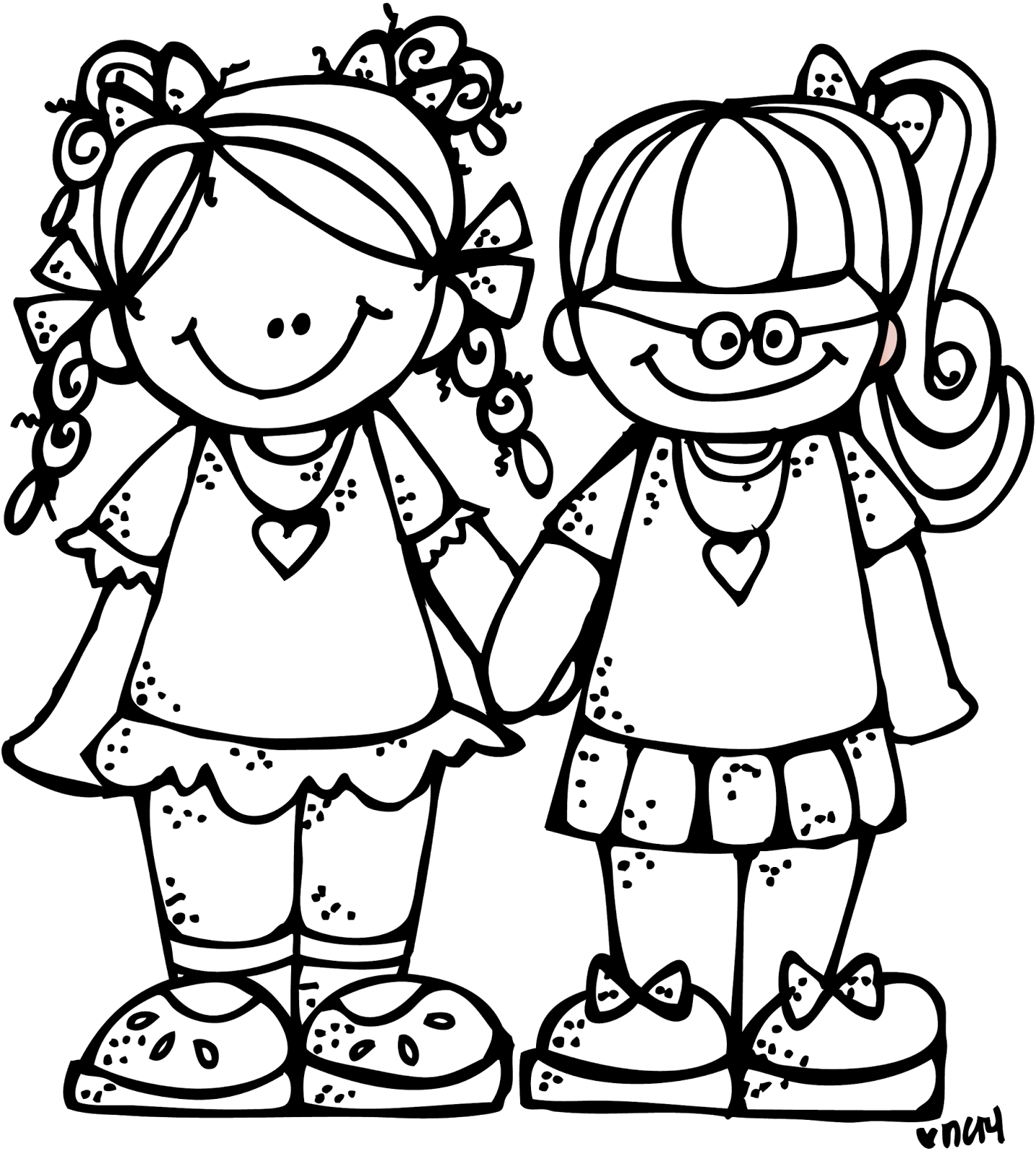 Two friends png black. Collaboration clipart friendship