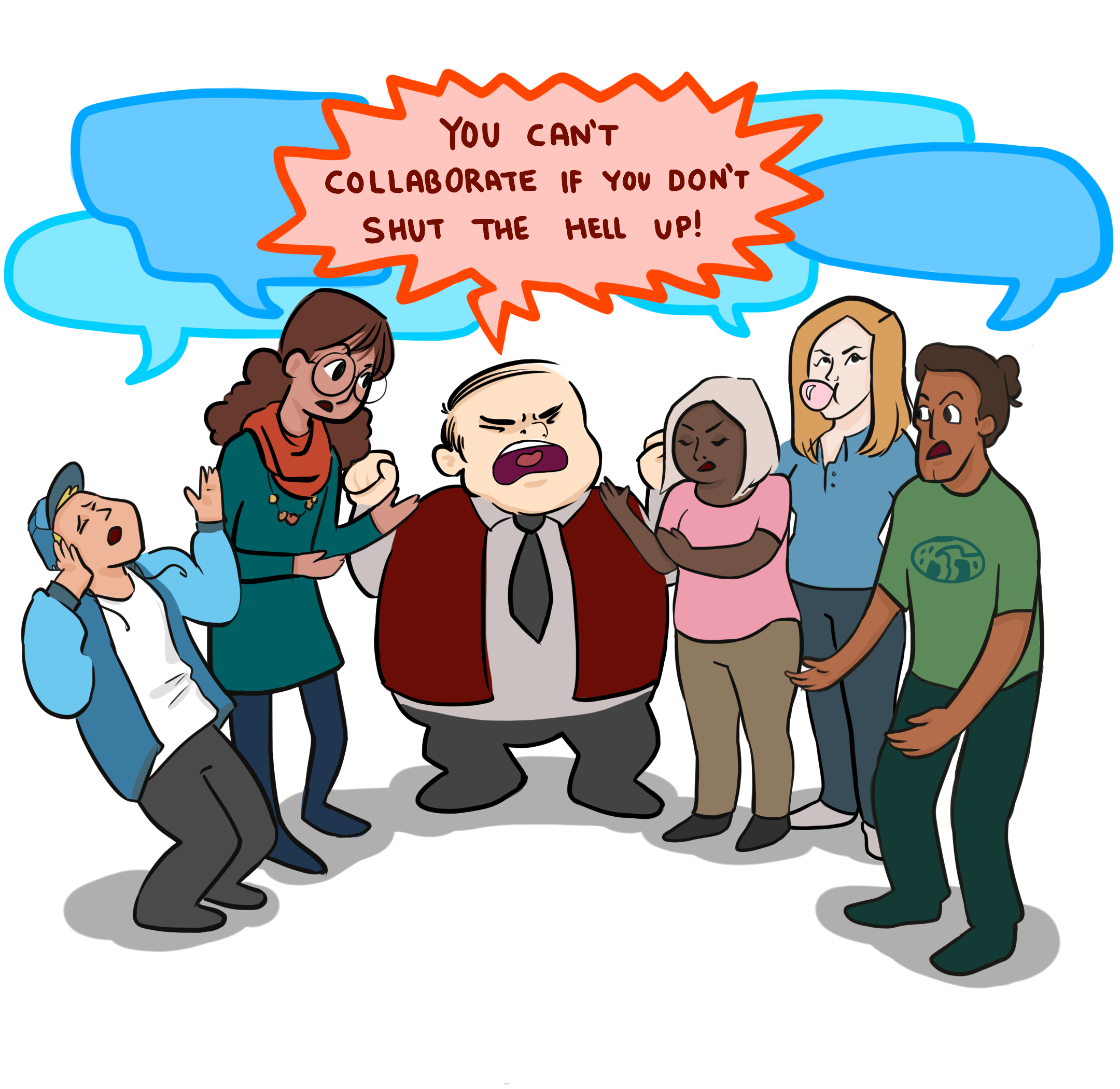 Working clipart positive workplace. Collaboration in a real