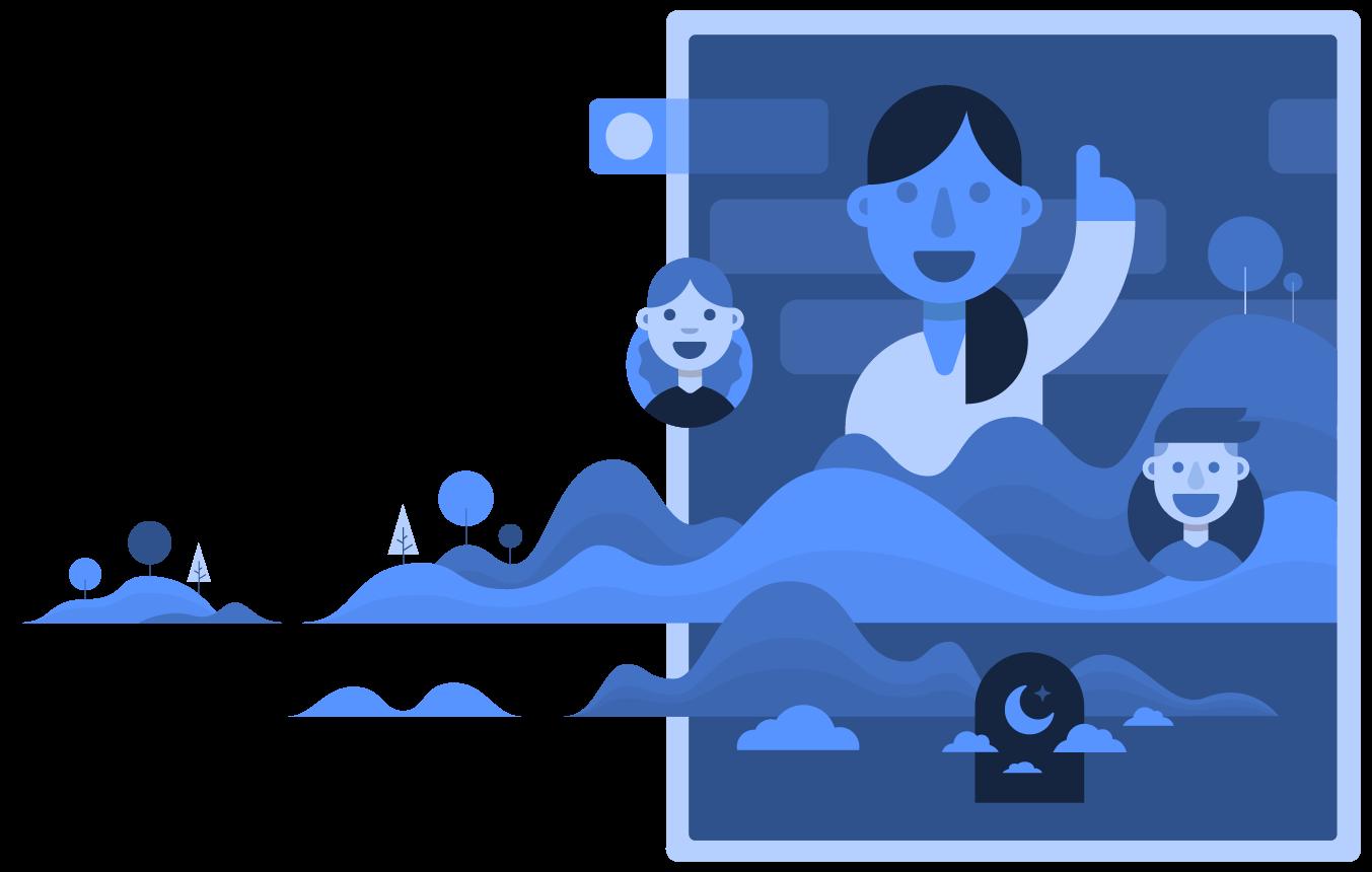 Marketing platform for enterprise. Collaboration clipart get together