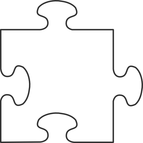 White border top hi. Teamwork clipart puzzle piece