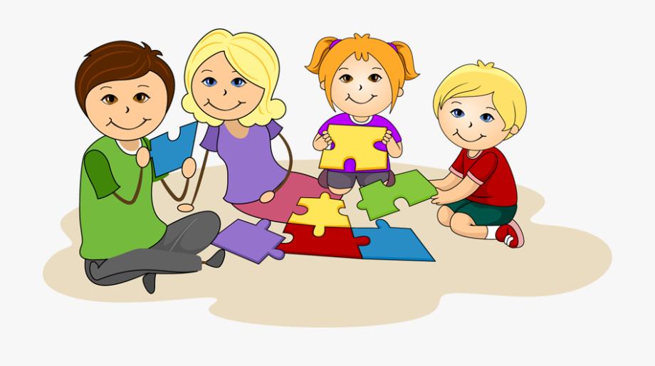 Collaboration clipart kid. Children working together clip