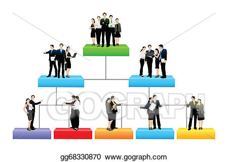 Collaboration clipart organisation. Eps illustration tree with