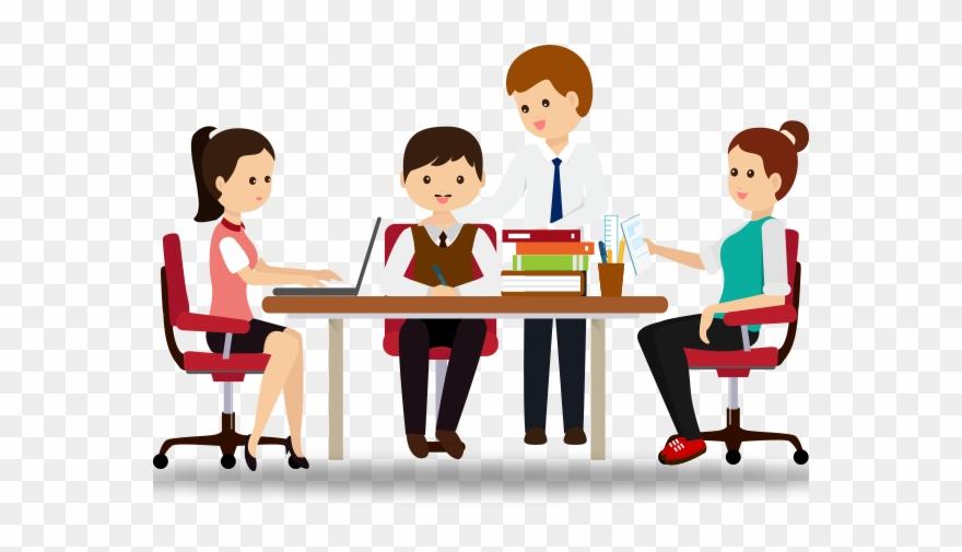 Collaboration lecturer cartoon . Organization clipart organization skill