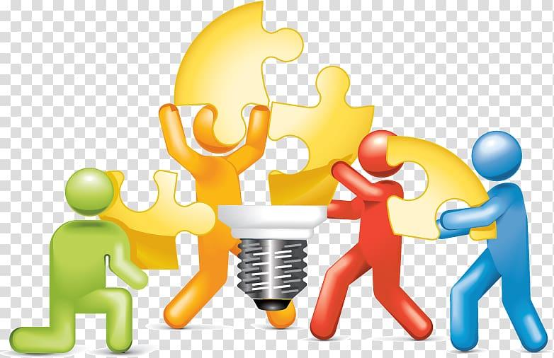 Puzzle logo problem solving. Teamwork clipart team dynamics