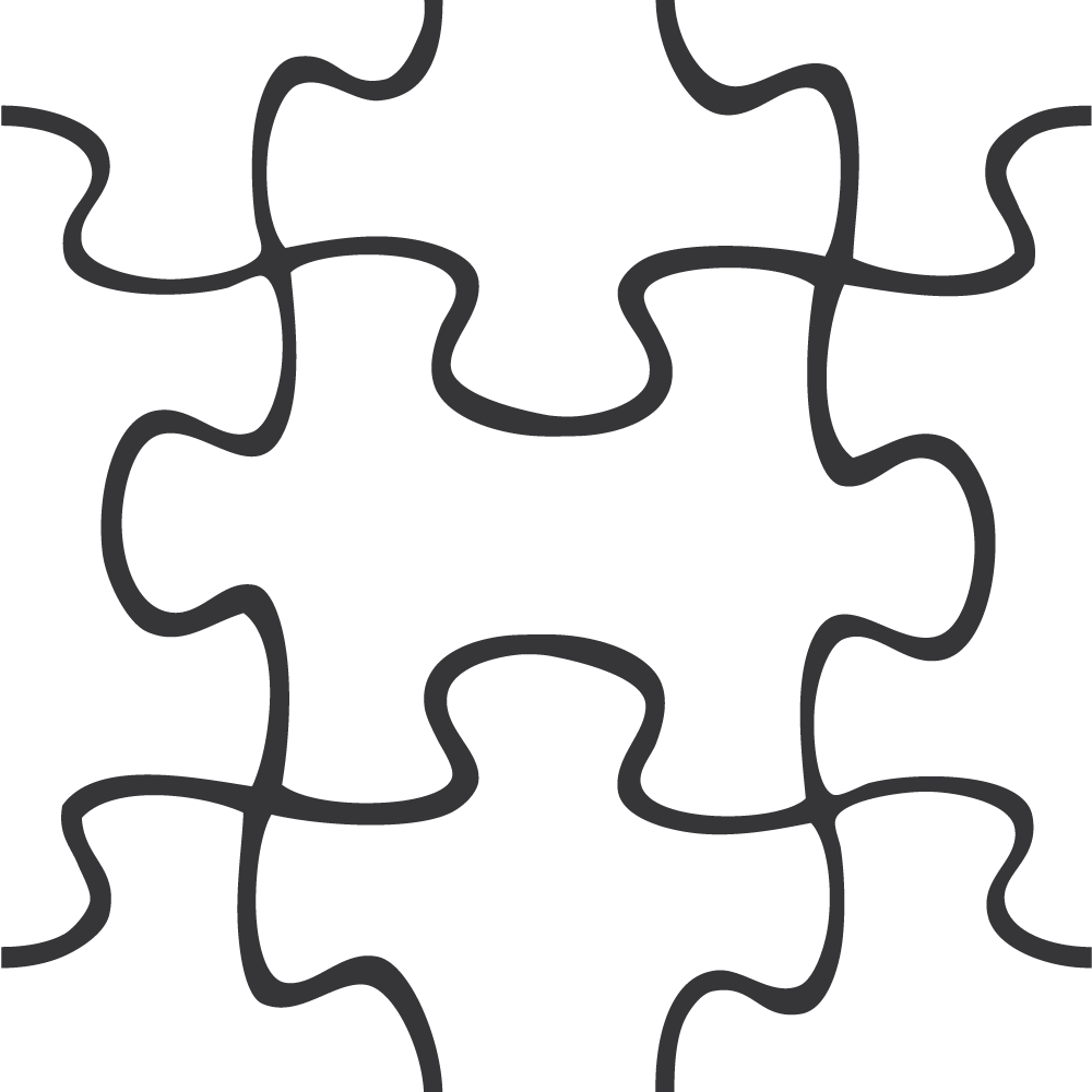 Template for powerpoint . Puzzle clipart line art