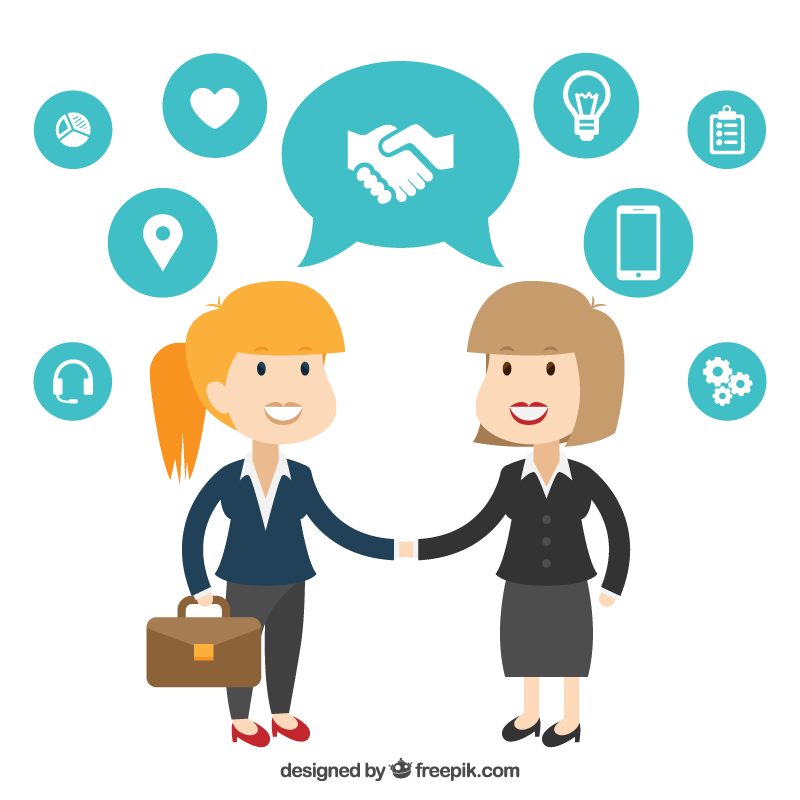 Organization clipart difficult conversation. The partnership meeting in