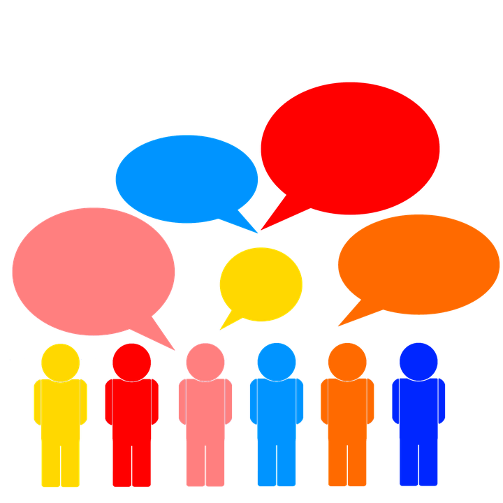 Open questions of state. Conference clipart kickoff meeting