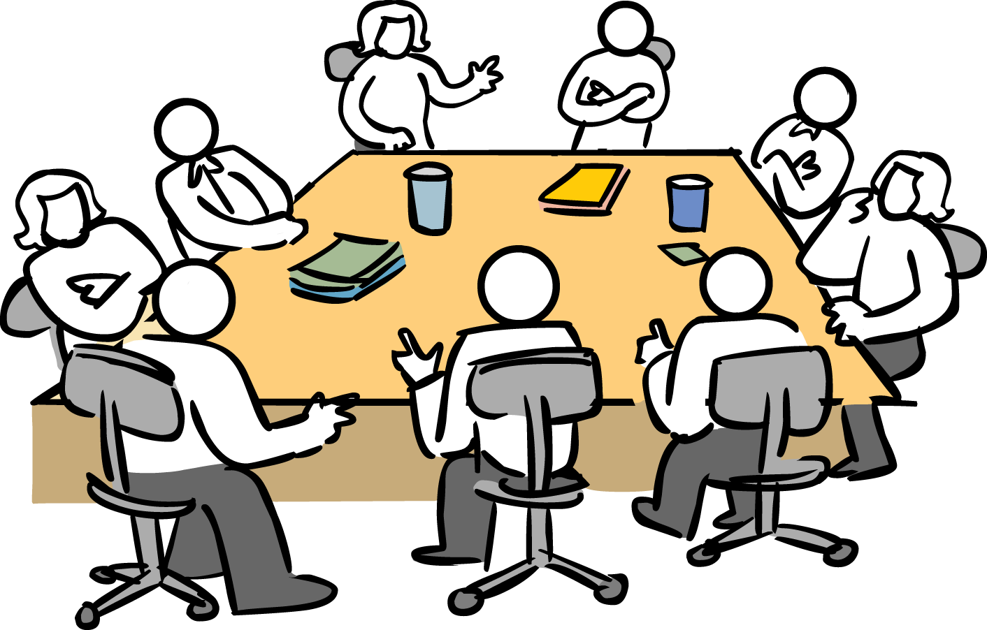 Manager clipart manager meeting.  myths of stakeholder