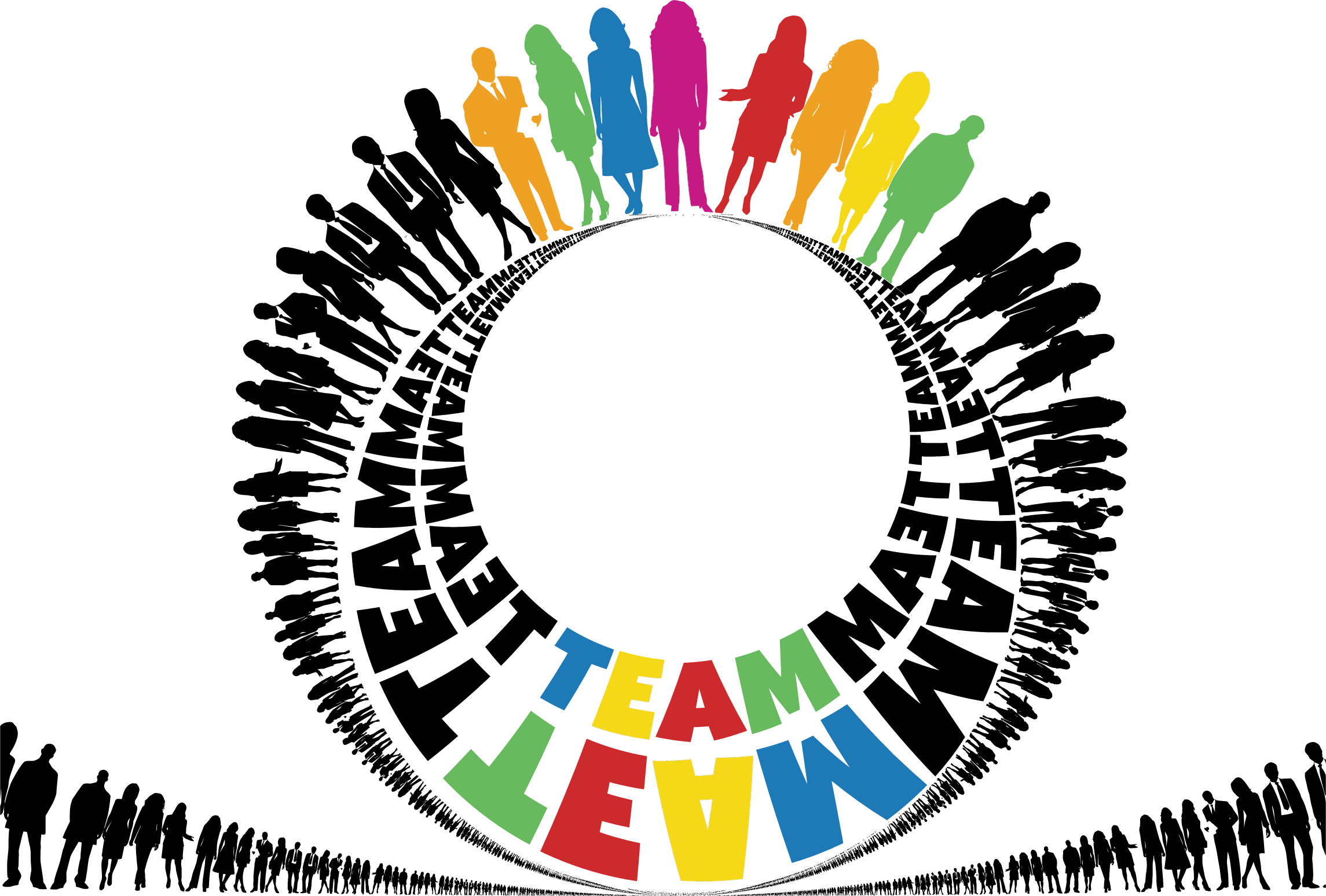 Working clipart team. Typography big image png