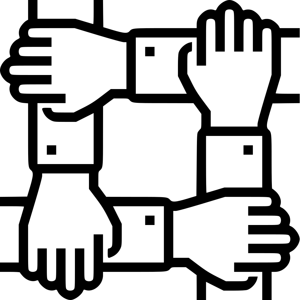 Collaboration svg png icon. Handshake clipart teamwork