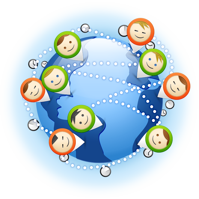 Virtual team leadership on. Working clipart group communication