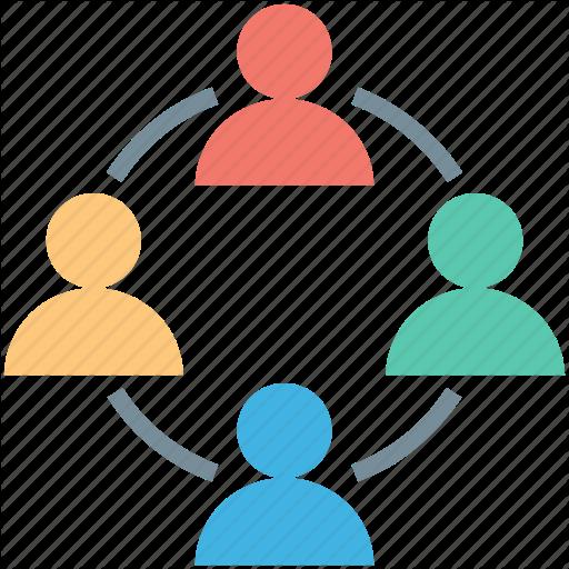 Yellow circle . Collaboration clipart teamwork