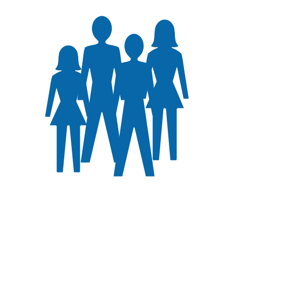 Silhouette women and men. Collaboration clipart two