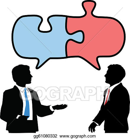 Vector stock business people. Collaboration clipart two