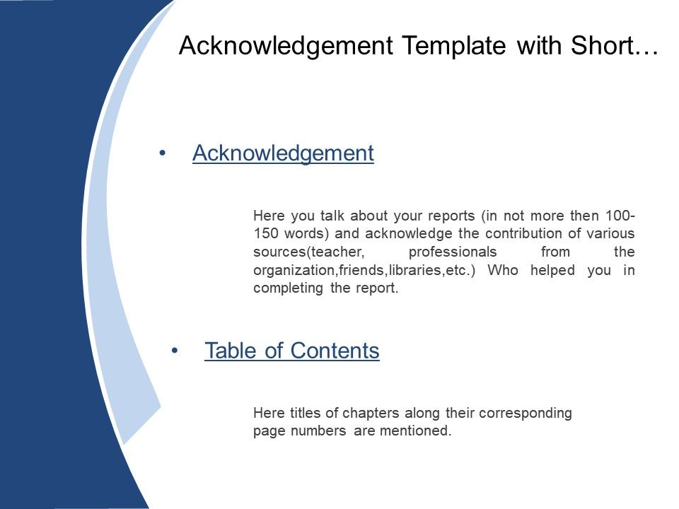 College clipart acknowledgement. Template with short briefing