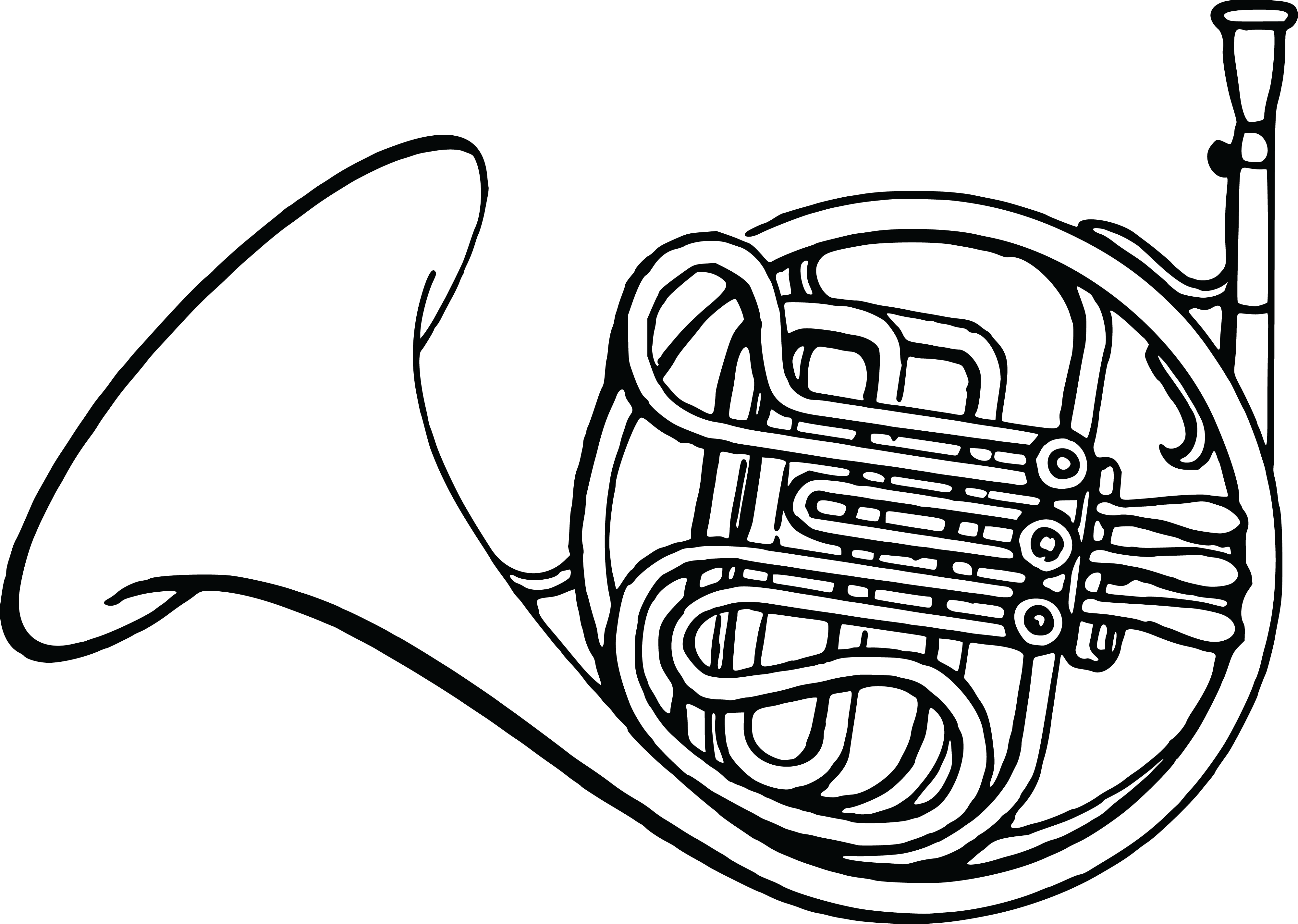 Horn clipart horn speaker. College black and white