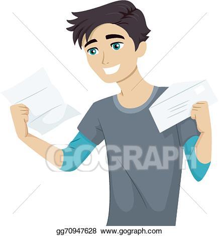 Eps illustration letter vector. College clipart college acceptance