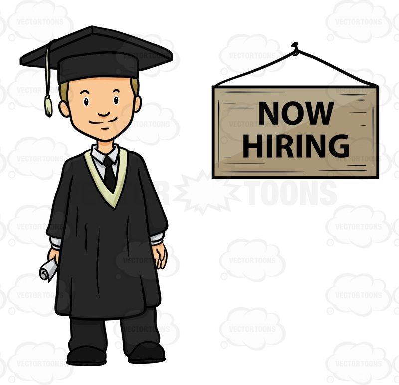 College clipart college graduate. Now hiring graduates alum