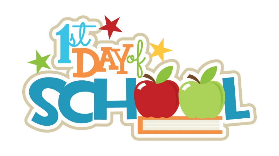 First day of school. College clipart days