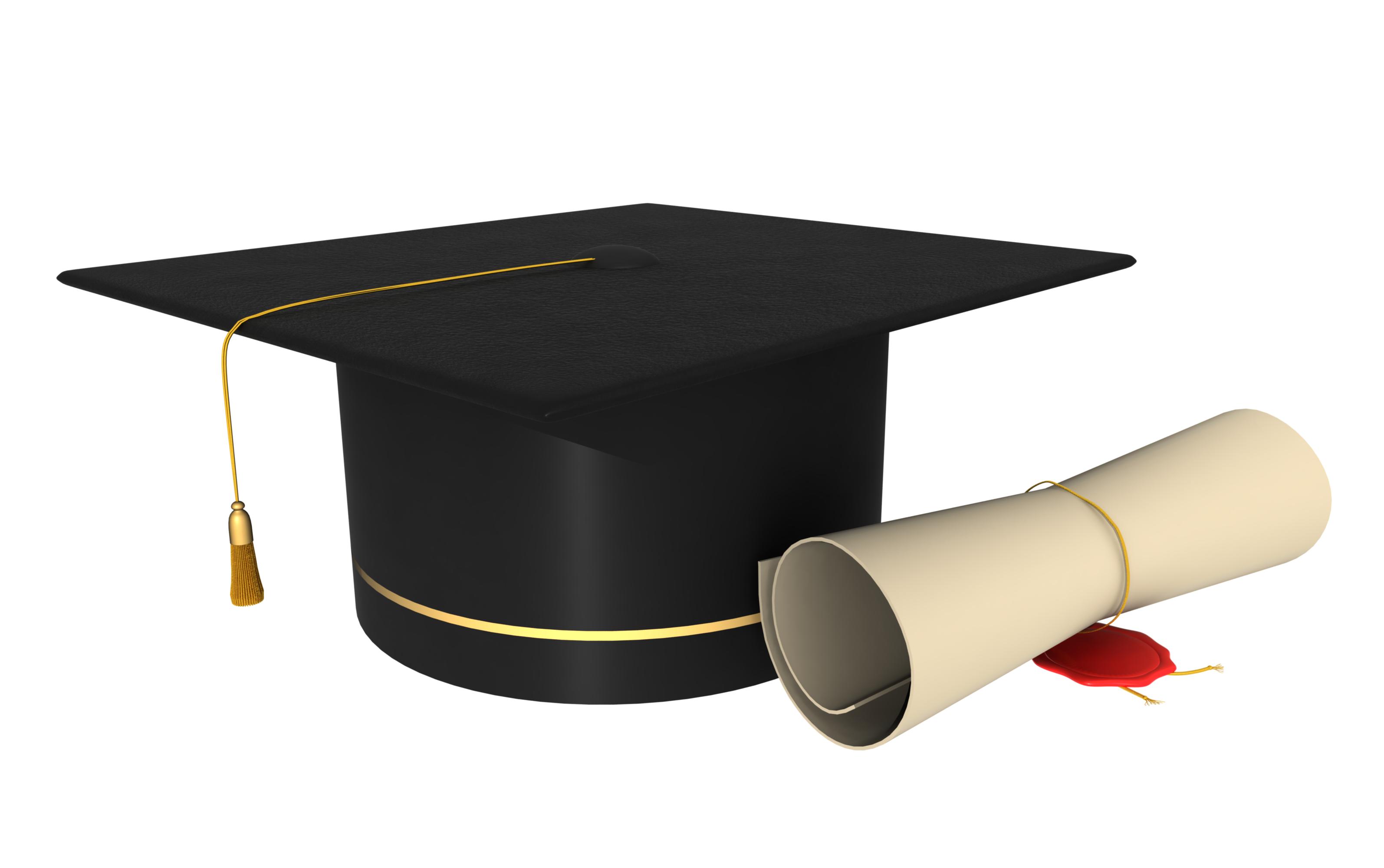 Degree cap png transparent. Graduation clipart gown