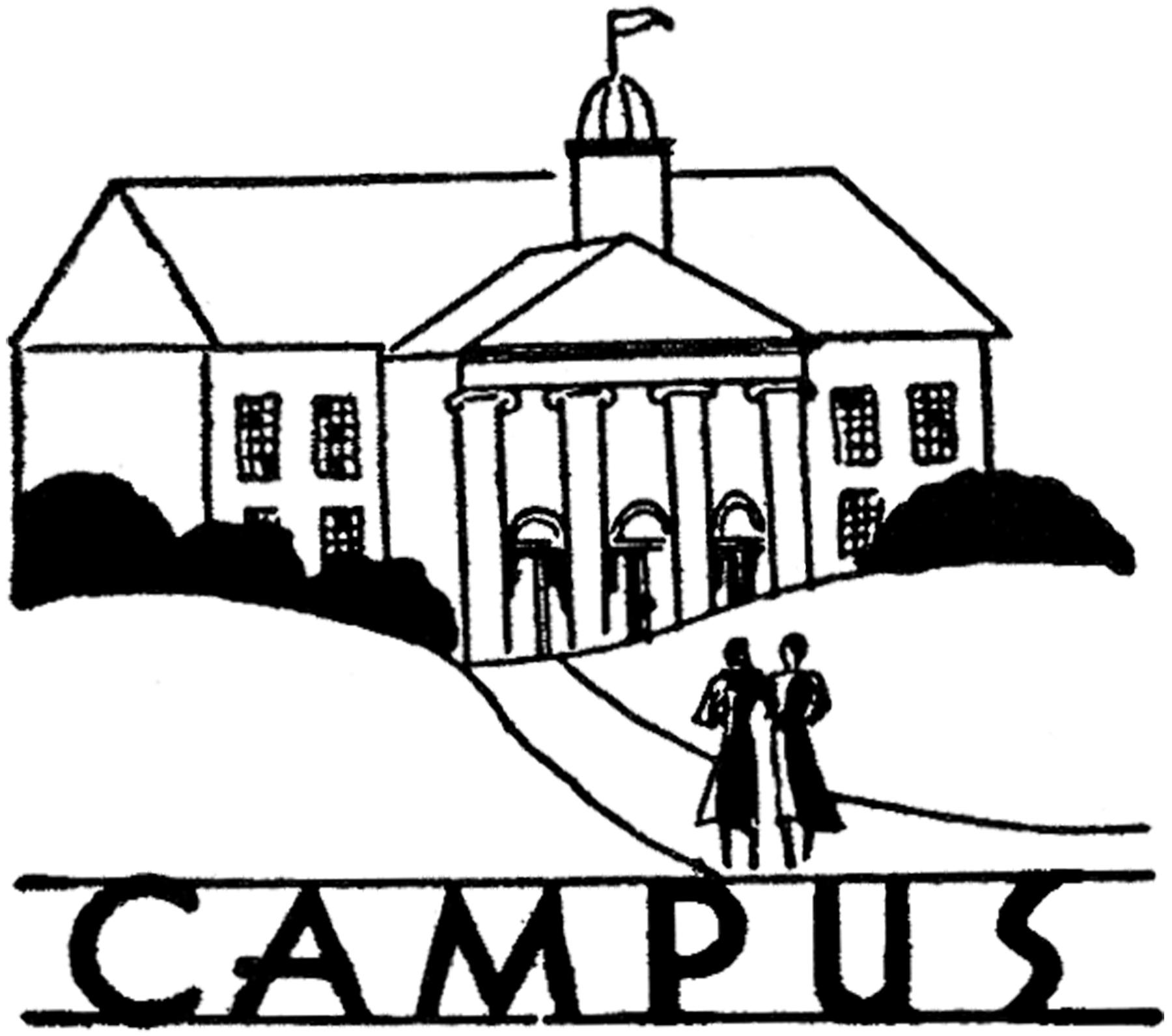 Vintage campus image the. College clipart line art