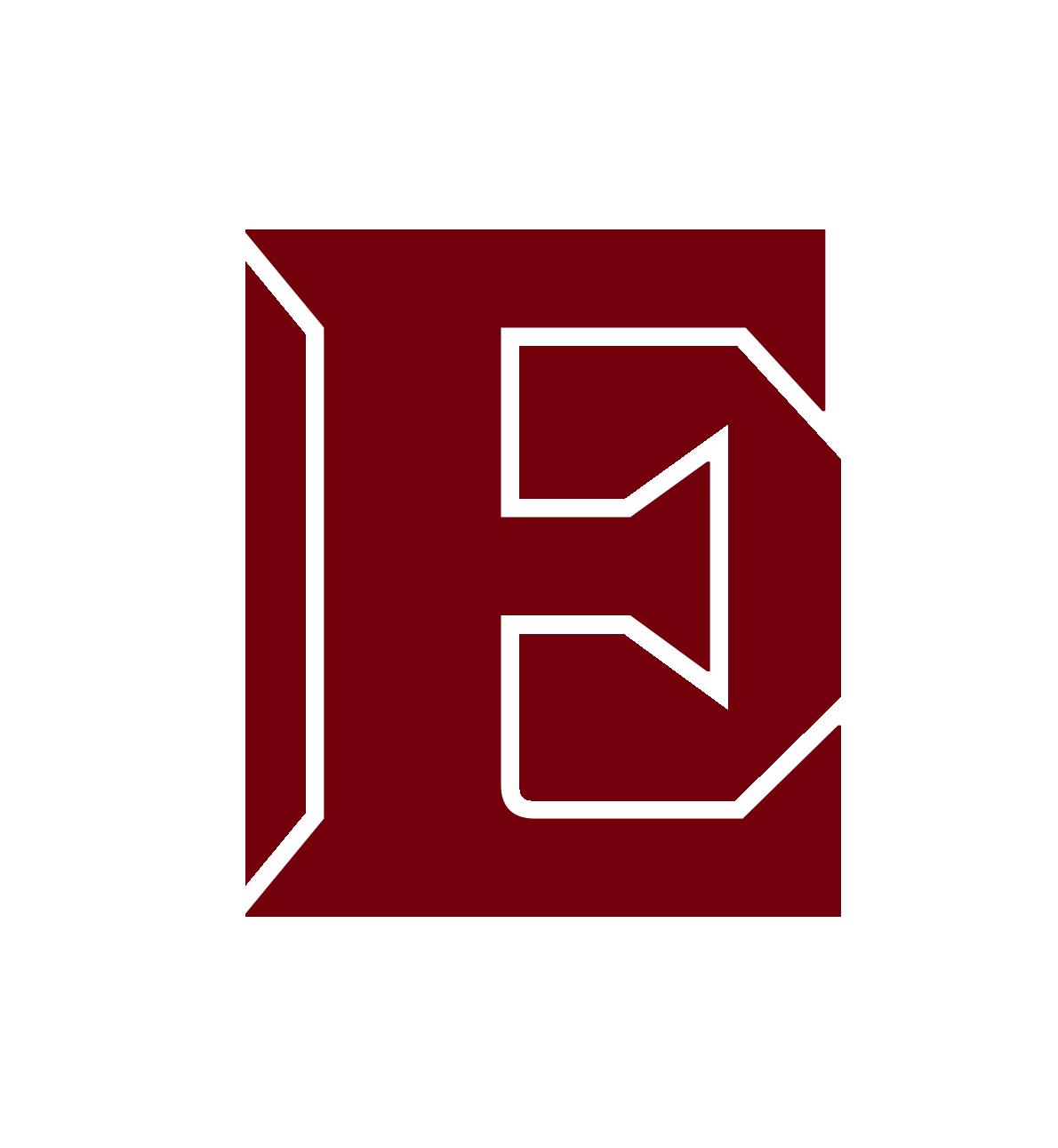 Elon university phoenix athletics. E clipart monogram