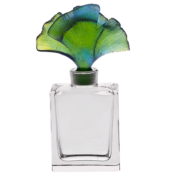 Daum crystal gingko perfume. Cologne bottle png