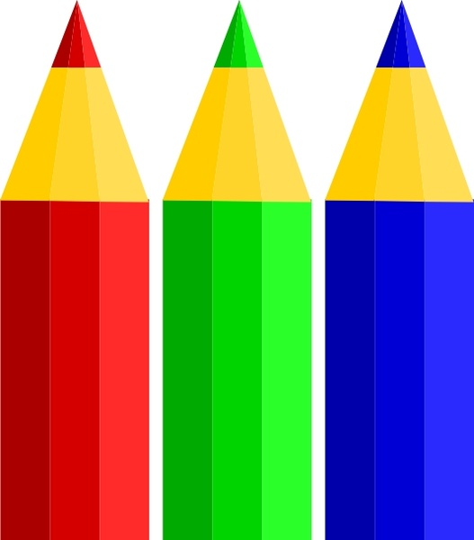 pencil clipart colour
