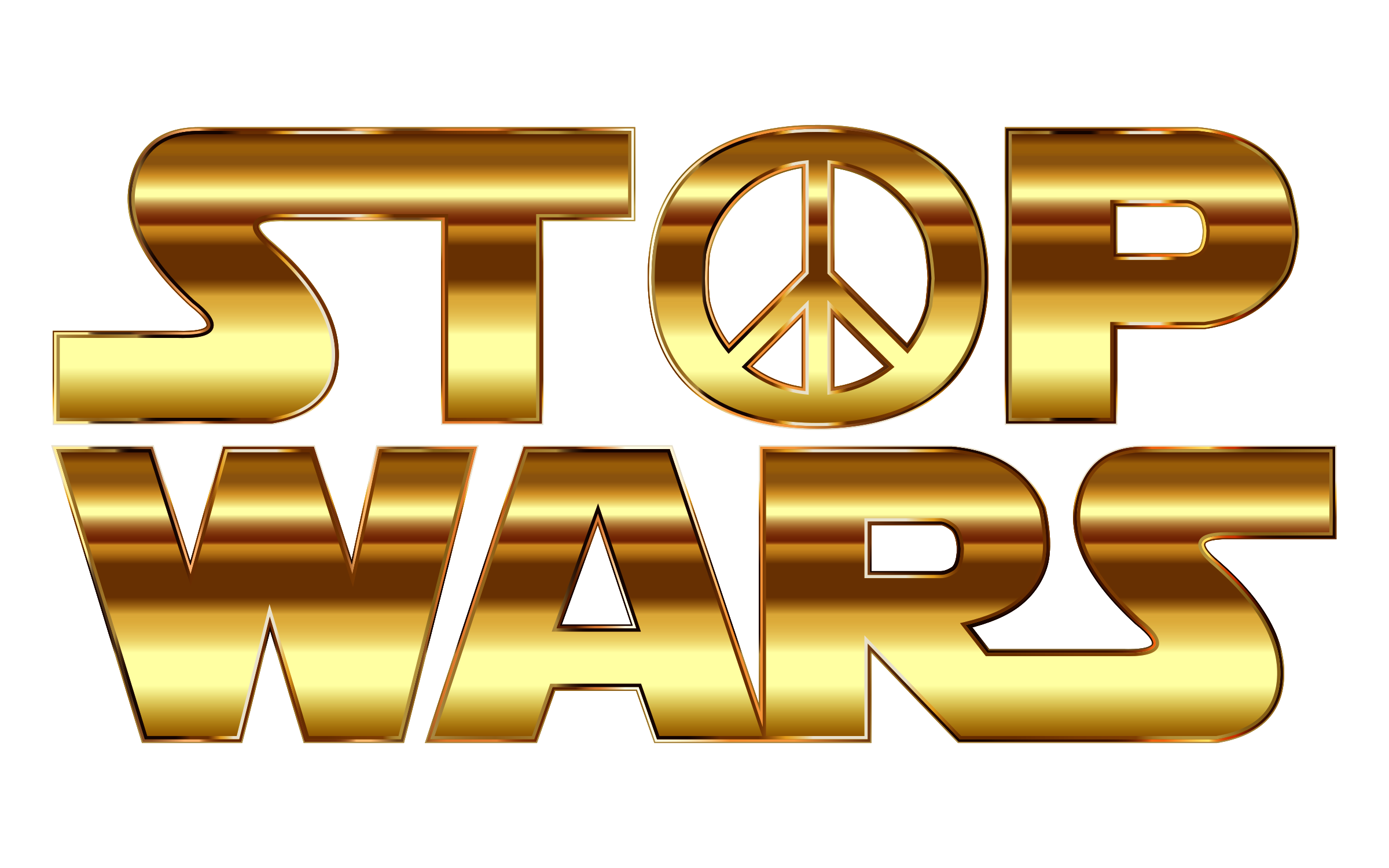 Stop wars gold deeper. Color clipart background