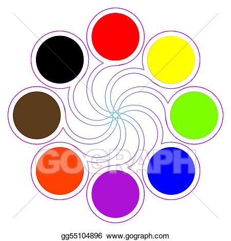 Stock illustration round color. Colors clipart basic