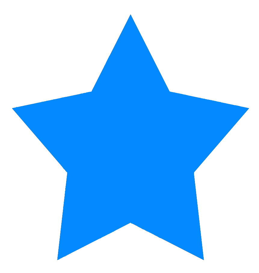 Simple star png . Color clipart blue