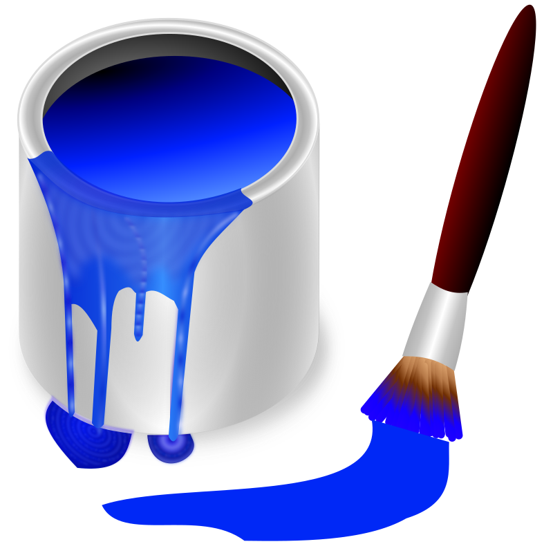 Bucket medium image png. Color clipart blue