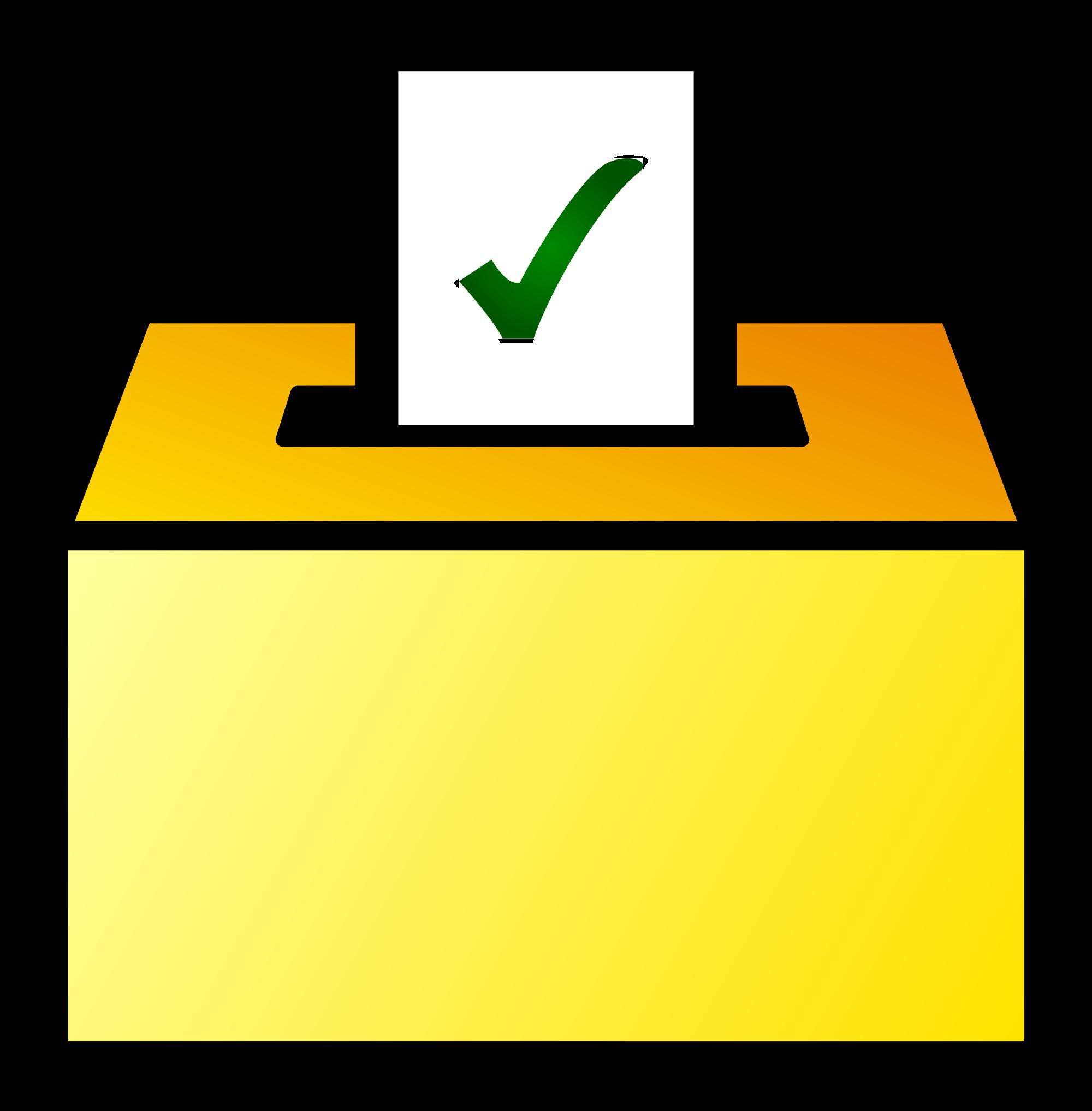 File ballot box color. Voting clipart icon