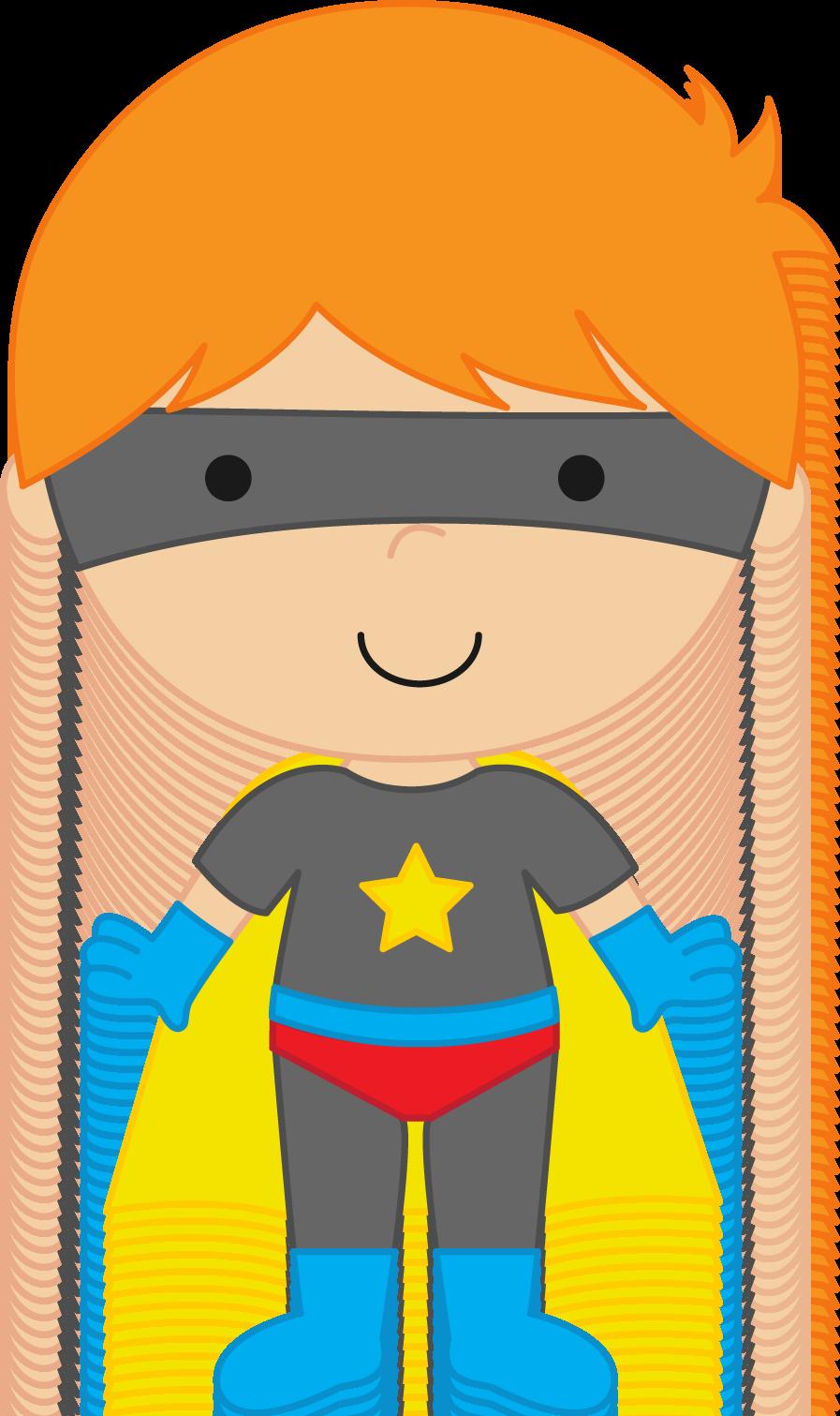 Superhero lovely idea boy. Kid clipart pencil
